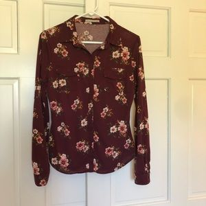 Tops - Floral button down top